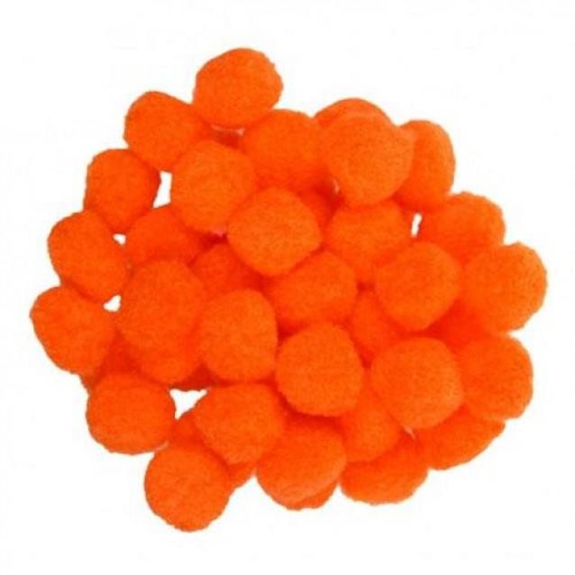 100 Πομ πομ Πορτοκαλί 2cm