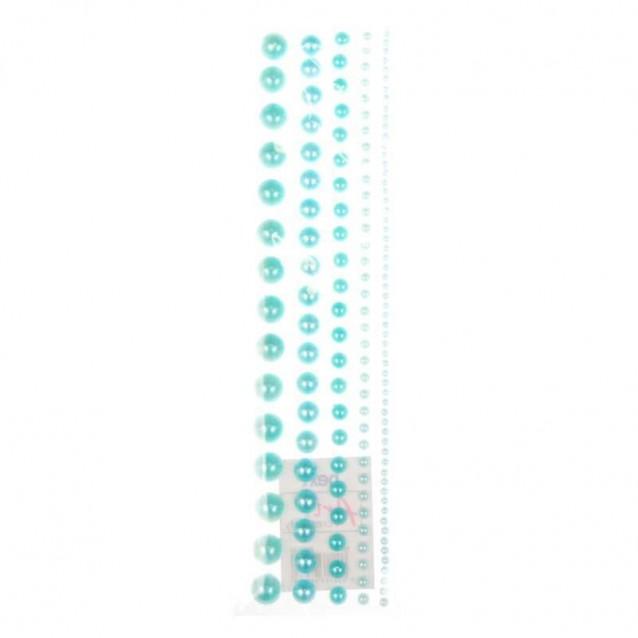 115 Πέρλες Αυτοκόλλητες Μπλε σε 5 Μεγέθη