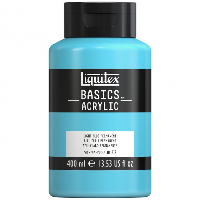 Liquitex Basics 400ml Acrylic 770 Light Blue Permanent