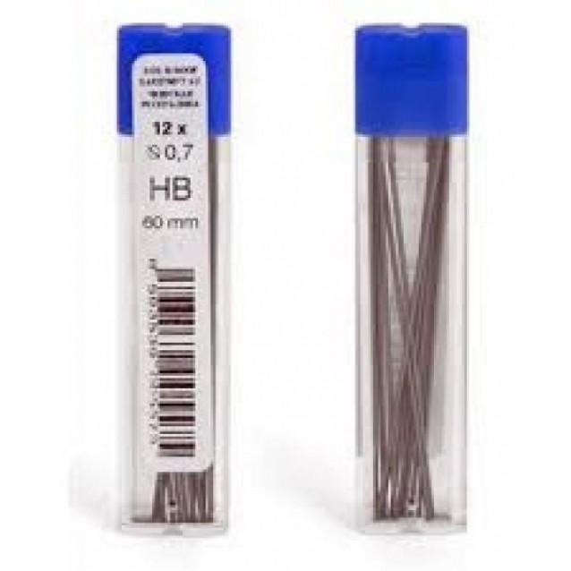 12 Μύτες Μηχανικού Μολυβιού 0,7mm HB