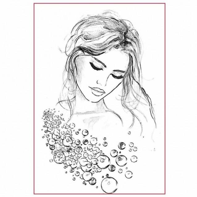 Stamperia Silhouette Art Napkin A4 (21x29,7cm) Woman Portrait