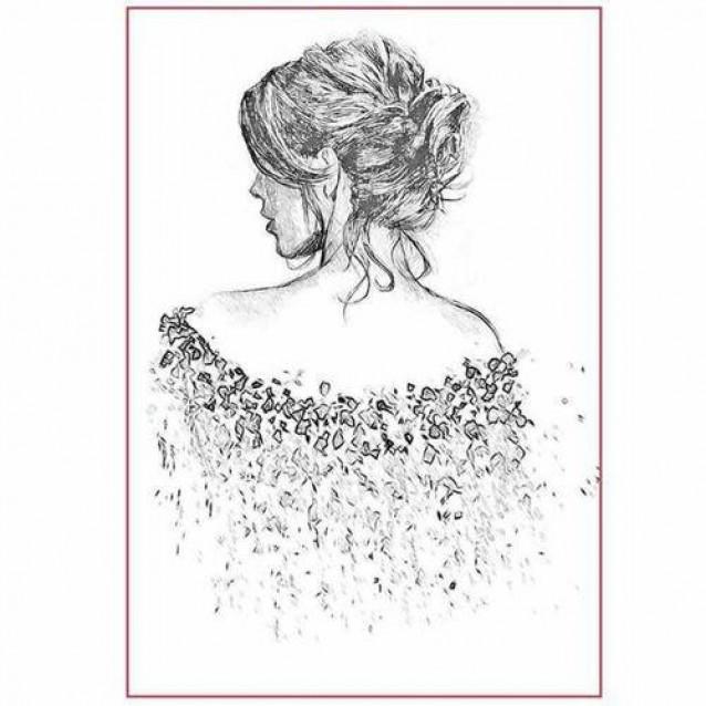 Stamperia Silhouette Art Napkin A4 (21x29,7cm) Walking Away
