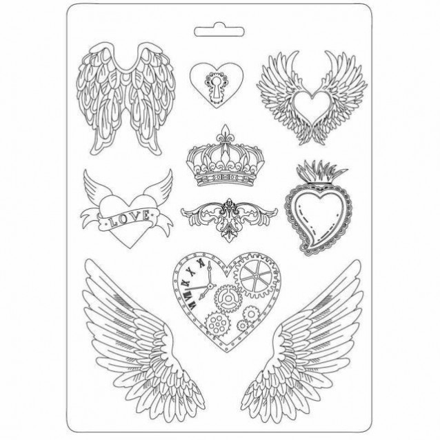 Stamperia Φόρμα Πηλού Α4 Hearts And Wings