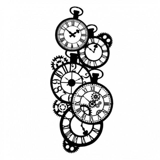 Stamperia Χονδρό Στένσιλ 0,5mm 12x25cm Clocks