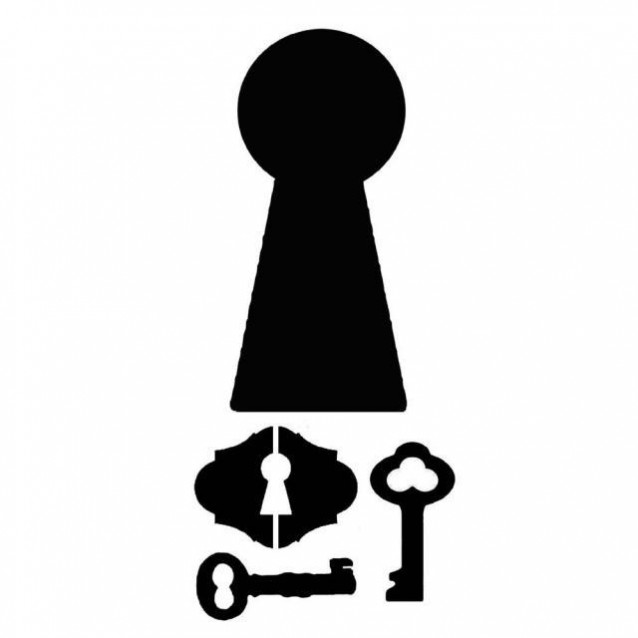 Stamperia Χονδρό Στένσιλ 0,5mm 12x25cm Locks And Keys