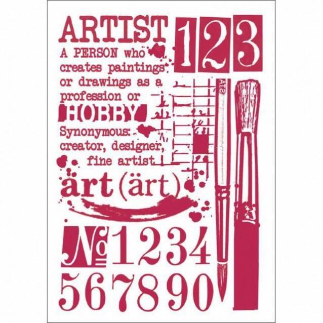 Stamperia Stencil G 21x29,7cm Artist
