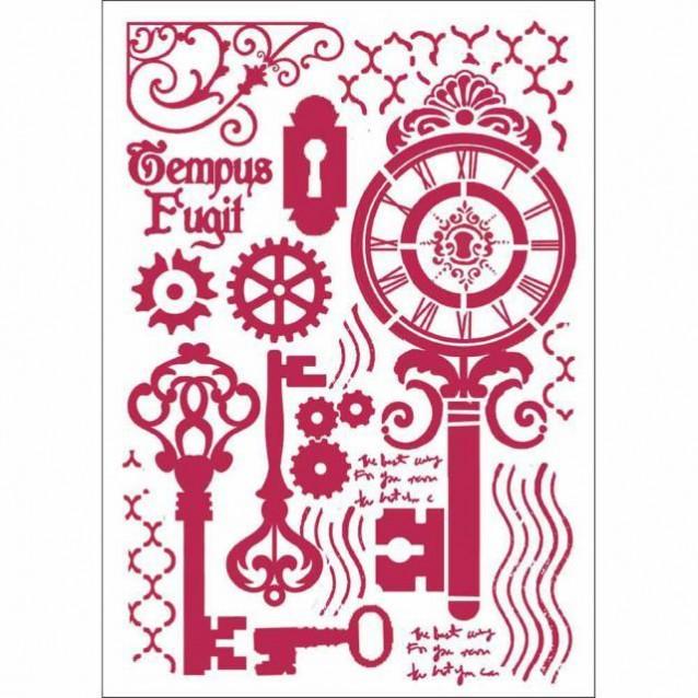 Stamperia Stencil G 21x29,7cm Keys and locks