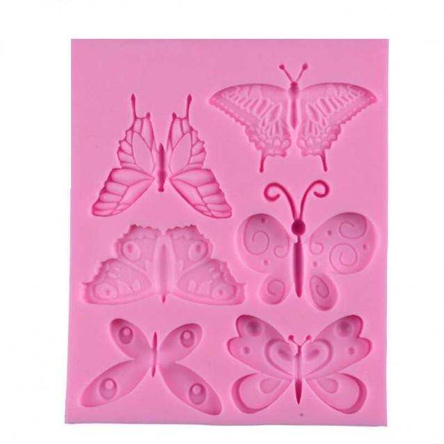 Καλούπι Σιλικόνης 11,9x9,4x0,7cm 6 Πεταλούδες