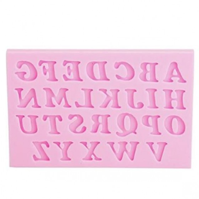 Craftistico Καλούπι Σιλικόνης 9,5x6x0,9cm Λατινικά Κεφαλαία Γράμματα