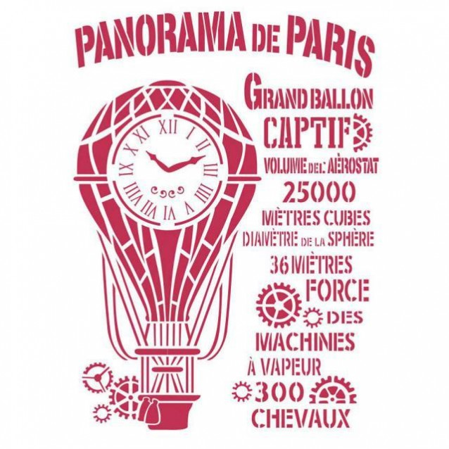 Stamperia Stencil G 21x29,7cm Panorama de Paris
