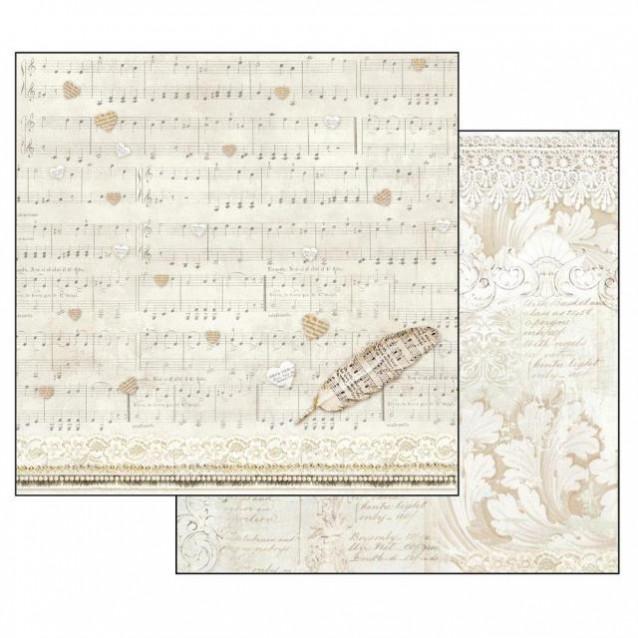 Stamperia Χαρτί Scrapbooking 30,5x30,5cm Διπλής Όψης Score And Feather