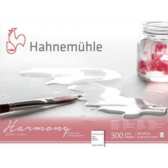 Hahnemuhle Μπλοκ Ακουαρέλας Harmony 12 φύλλων 30x40cm 300gr Cold Pressed