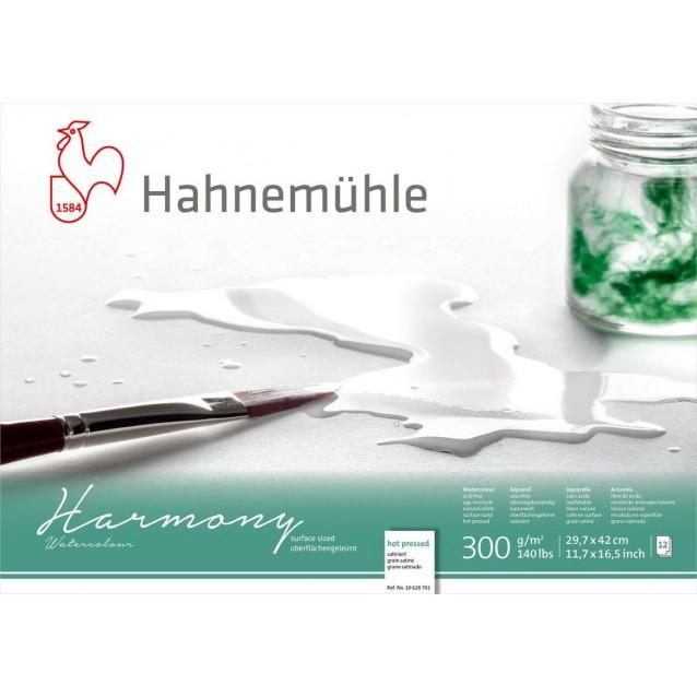Hahnemuhle Μπλοκ Ακουαρέλας Δετό Harmony 12 Φύλλων A3 300gr Ηot Pressed
