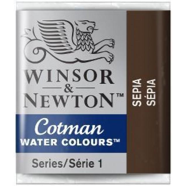 Winsor & Newton Half Pan Cotman 609 Sepia