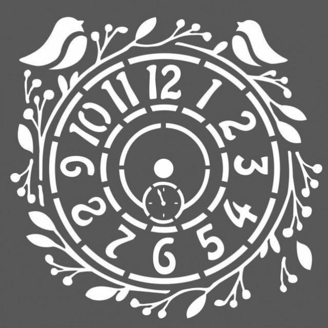 Stamperia Χονδρό Στένσιλ 0,5mm 18x18cm Orologio