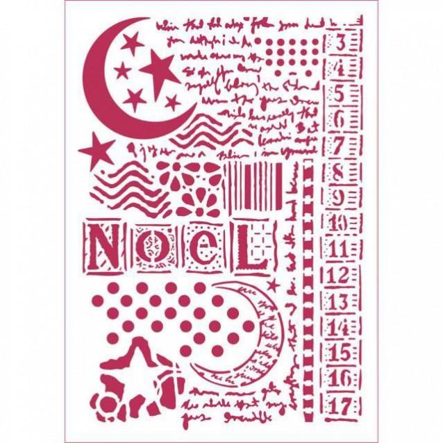 Stamperia Stencil G 21x29,7cm Stella Luna E Scritte