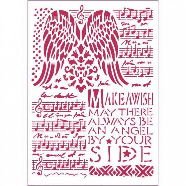 Stamperia Stencil G 21x29,7cm Musica E Ali