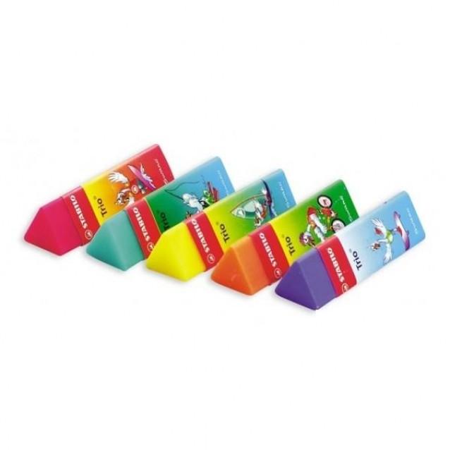 Stabilo Τριγωνική Χρωματιστή Γόμα