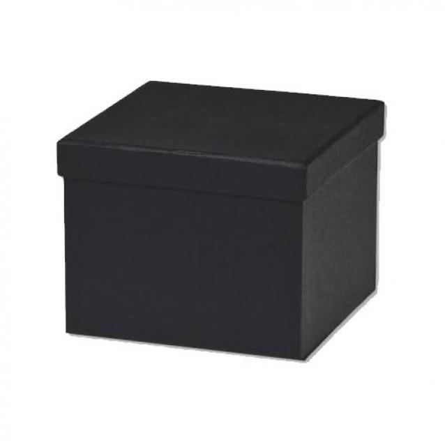 Χάρτινο Κουτί Επενδυμένο Τετράγωνο 18x18x13 cm - Μαύρο