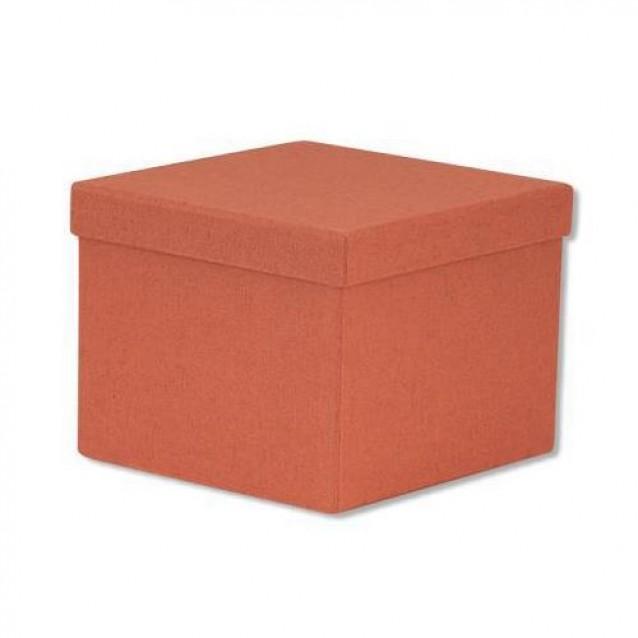 Χάρτινο Κουτί Επενδυμένο Τετράγωνο 18x18x13 cm - Πορτοκαλί