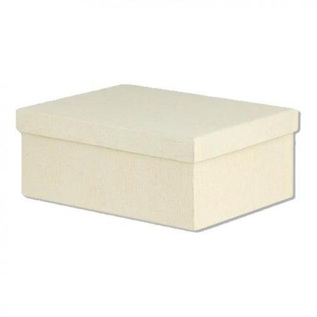 Χάρτινο Κουτί Επενδυμένο Oρθογώνιο 15x11x7 cm- Εκρού