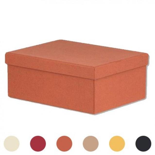 Χάρτινο Κουτί Επενδυμένο Oρθογώνιο 20x15x8 cm- Πορτοκαλί