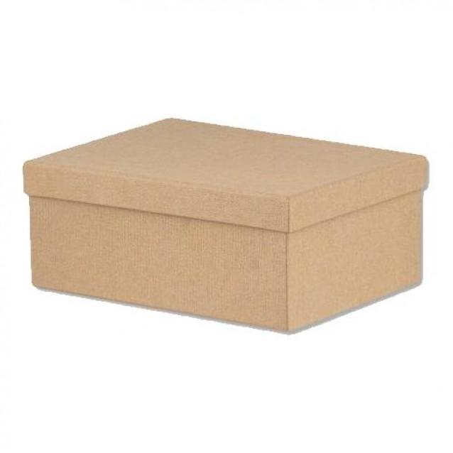 Χάρτινο Κουτί Επενδυμένο Oρθογώνιο 30x23x10 cm- Φυσικό Καφέ