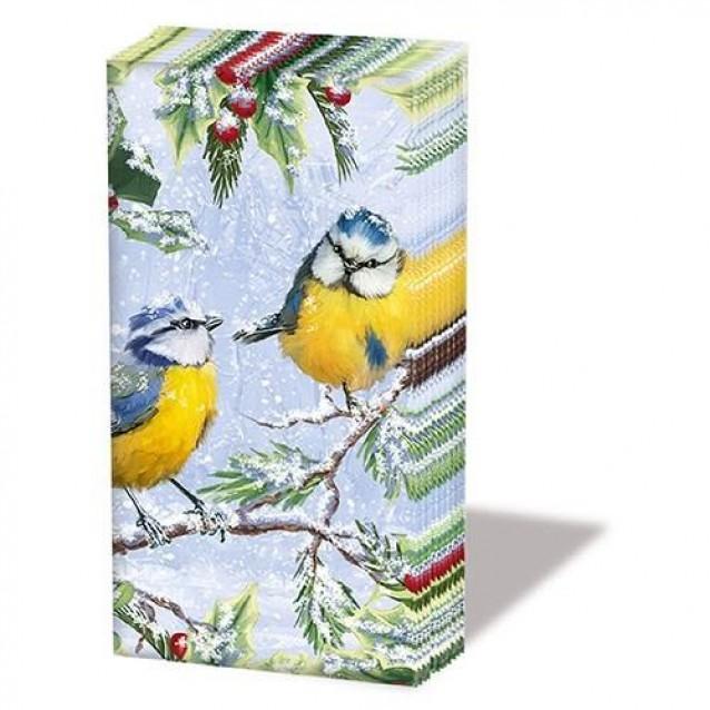 10 Χαρτομάντηλα 21,5x22cm Chirping Birds