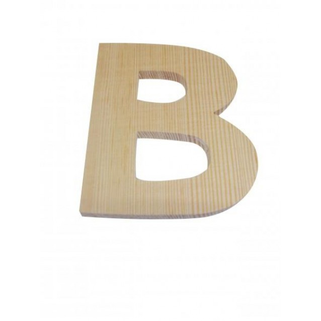 Ξύλινo Γράμμα 10cm - Β