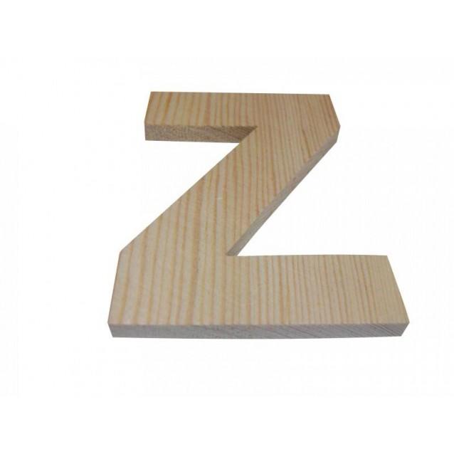 Ξύλινo Γράμμα 10cm - Ζ