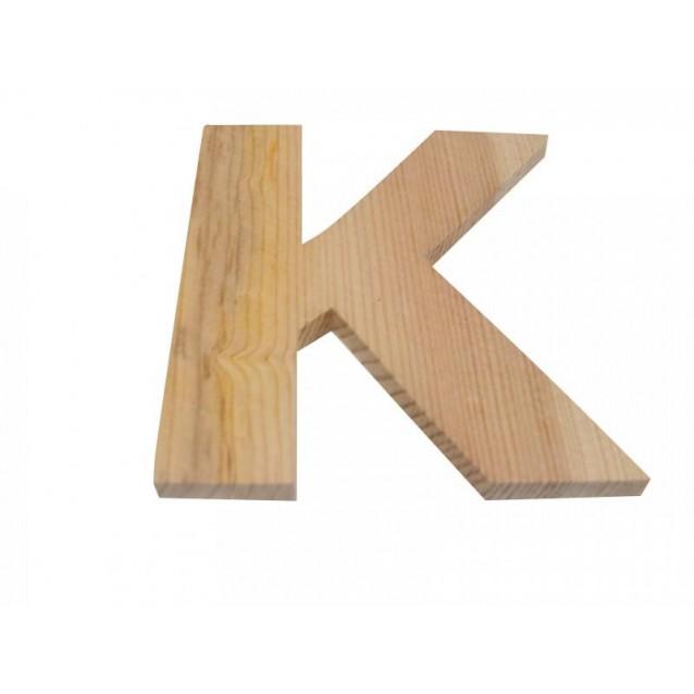 Ξύλινo Γράμμα 10cm - Κ
