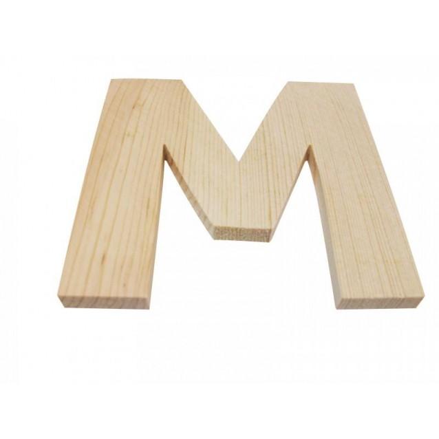 Ξύλινo Γράμμα 10cm - Μ