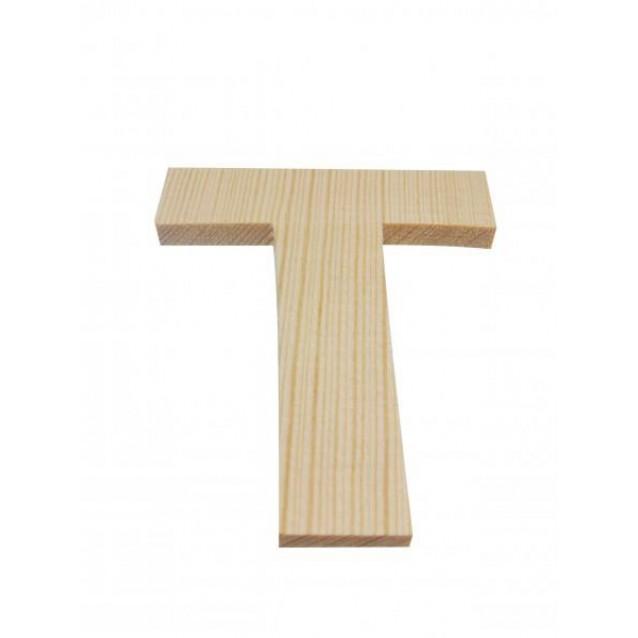 Ξύλινo Γράμμα 10cm - Τ