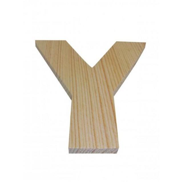 Ξύλινo Γράμμα 10cm - Υ