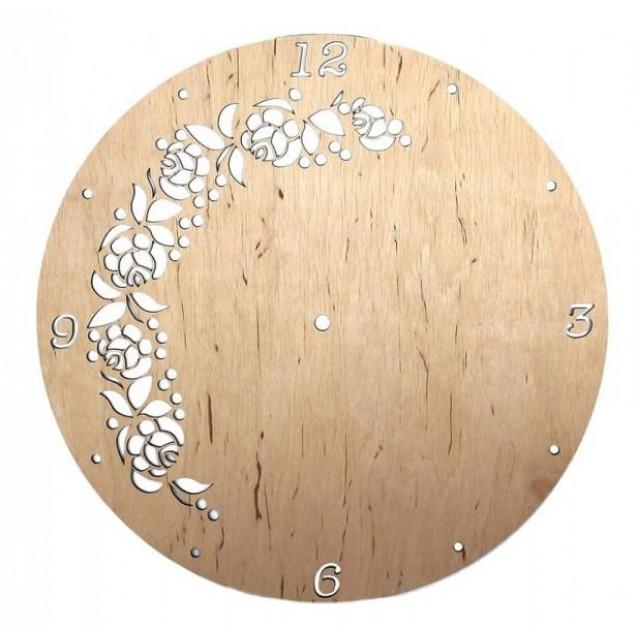 Rosa Στρογγυλή Βάση για Ρολόι με Λουλούδια 30cm