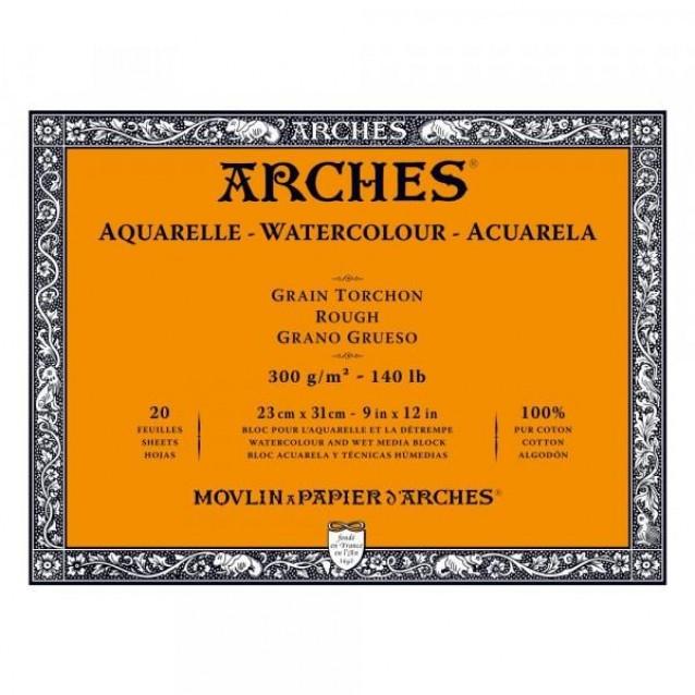 Arches Μπλοκ Ακουαρέλας Rough Grain (Τραχύ) 300gr 23x31cm 20 φύλλων