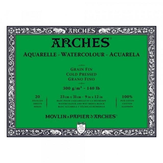 Arches Μπλοκ Ακουαρέλας Cold Pressed (Λεπτόκοκκο) 300gr 23x31cm 20 φύλλων