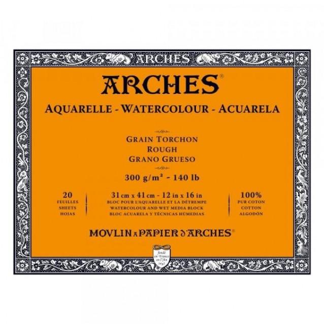 Arches Μπλοκ Ακουαρέλας Rough Grain (Τραχύ) 300gr 31x41cm 20 φύλλων