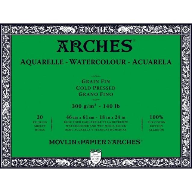Arches Μπλοκ Ακουαρέλας Cold Pressed (Λεπτόκοκκο) 300gr 46x61cm 20 φύλλων