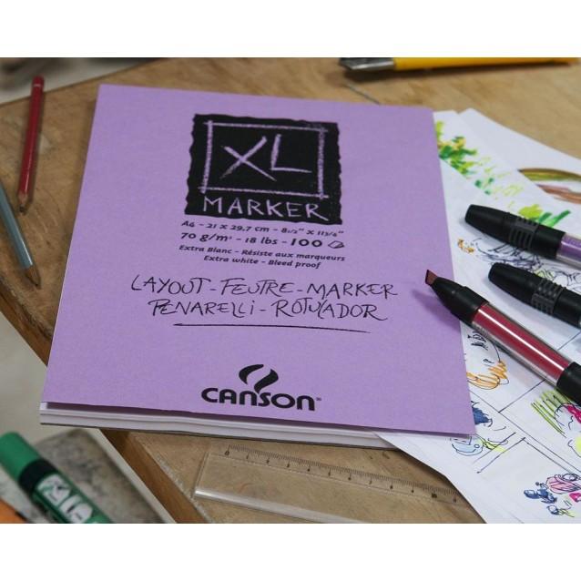 Canson Μπλοκ XL Marker 70gr A3 100 Φύλλων