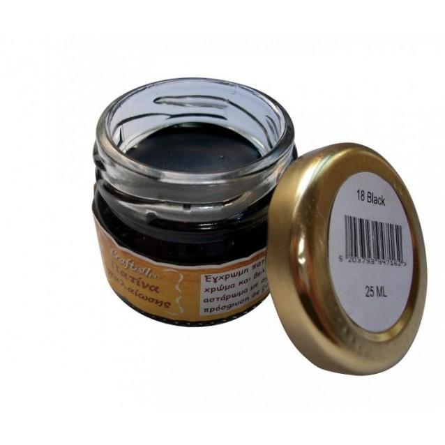 Craftistico 25 ml Κηροπατίνα Black