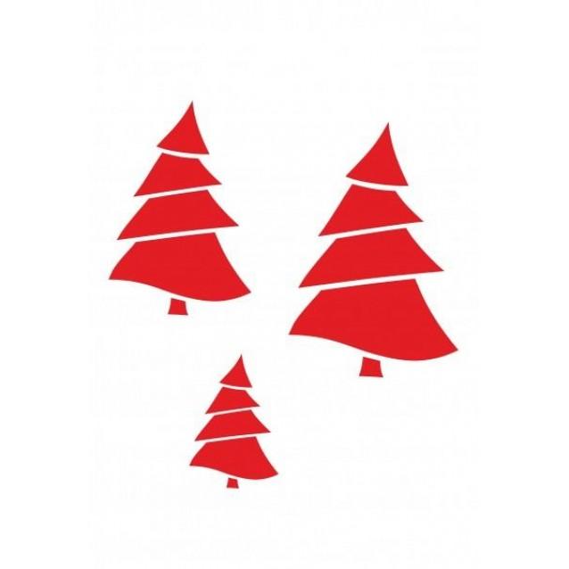 Craftistico Stencil 20x30cm Χριστουγεννιάτικα Δένδρα