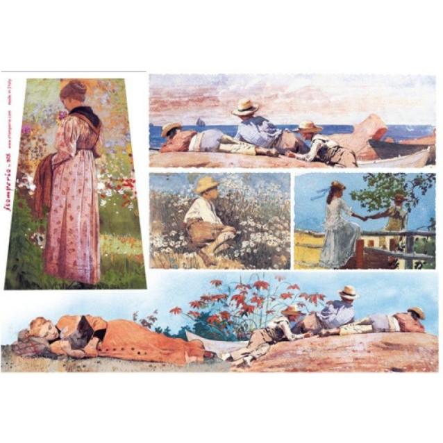 Stamperia Ριζόχαρτο Decoupage 48x33cm Ακουαρέλα - Παιδιά