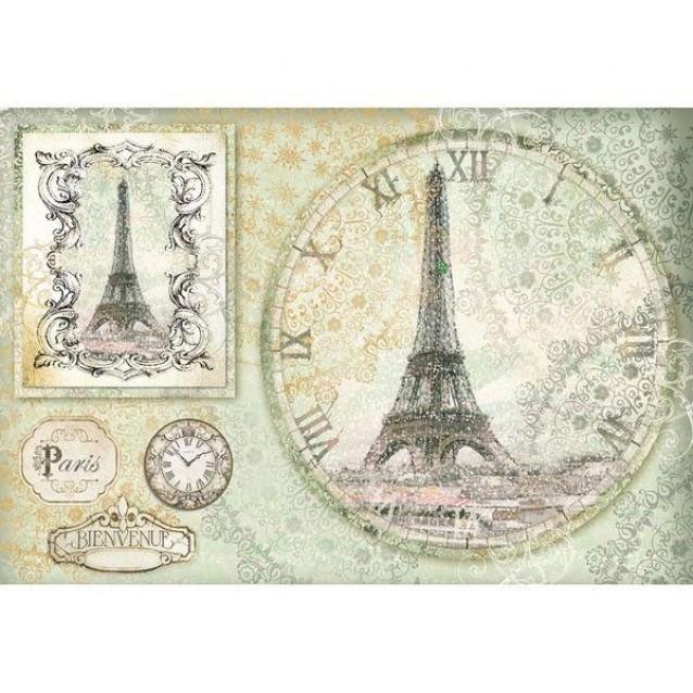 Stamperia Ριζόχαρτο Decoupage 48x33cm Tour Eiffel Watch