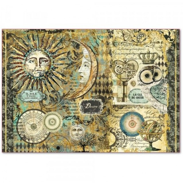 Stamperia Ριζόχαρτο Decoupage 48x33cm Alchemy Sun & Moon