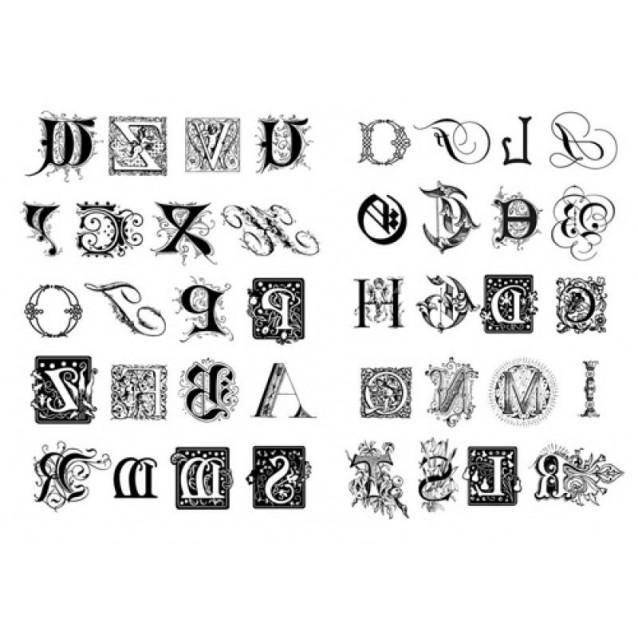 Stamperia 2 Χαρτιά Μεταφοράς Α4 Mixed Alphabet