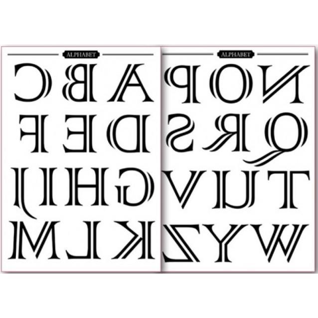 Stamperia 2 Χαρτιά Μεταφοράς Α4 Alphabet