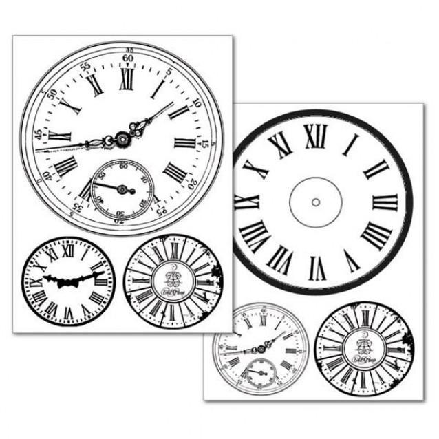 Stamperia 2 Χαρτιά Μεταφοράς Α4 Clocks
