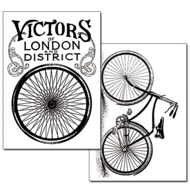 Stamperia 2 Χαρτιά Μεταφοράς Α4 Bicycle