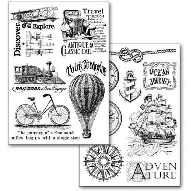 Stamperia 2 Χαρτιά Μεταφοράς Α4 Around The World